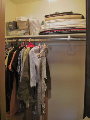 The closet stores muslins, sewing project problems, interfacings, fabrics for wearable tests...