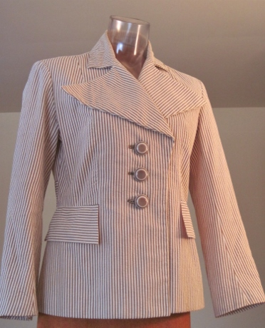 My first jacket I made from this 1936 pattern, and my introduction to vintage sewing. I haven't been the same since.