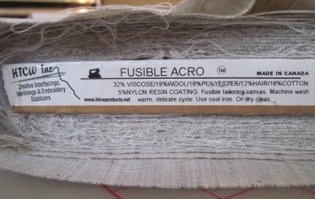 I won't be using fusible canvas in my Smart Tailoring projects. (Could I possibly remove the adhesive? It could be worth trying.)