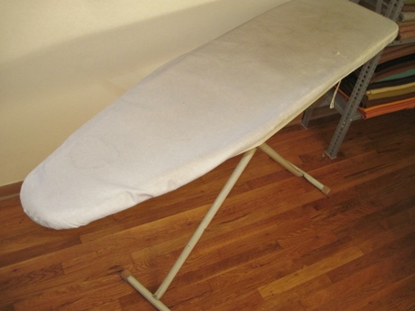 Whatever my ironing board cover's made of, it's definitely not cotton.