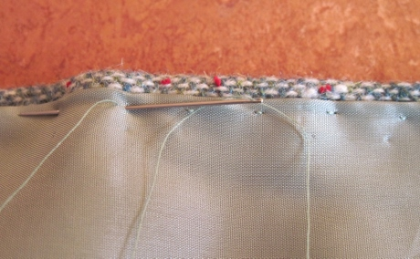 Pick stitching was easy and nice-looking.