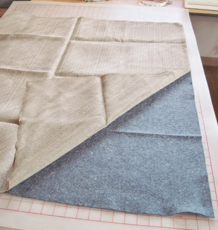 With shears and a seam ripper I gradually cut through the stitches to separate the canvas from the collar felt.