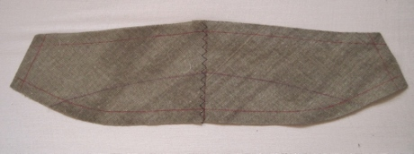 ...and attached with a serpentine stitch.