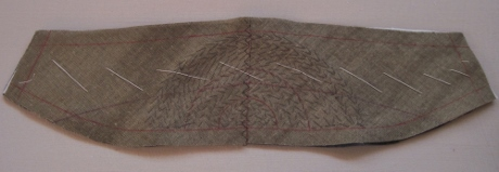 Pad stitching in semicircles inside the seamlines.