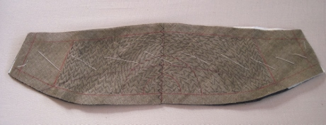 Pad stitching to within 2 inches of the ends.