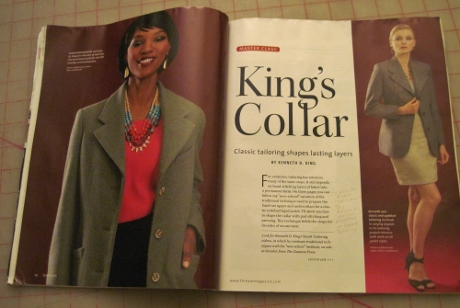 """Instructions for preparing the undercollar are in the October-November 2014 issue of Threads. I penciled a note that the method is """"old school,"""" not """"new school"""" as the intro mistakenly says."""