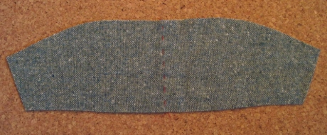 The upper collar is a single piece cut on the fold.