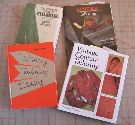 I looked at my tailoring books about interfacing the cuff--straight of grain? bias?