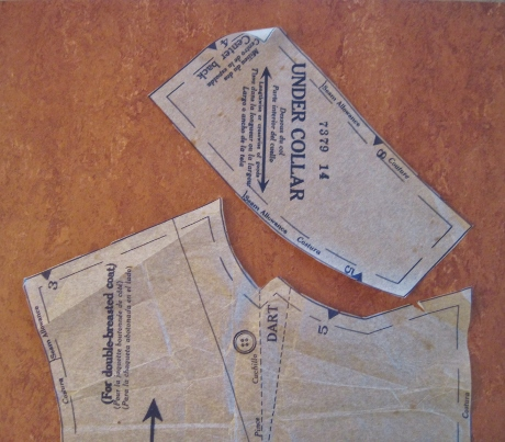 The original pattern pieces, with the seam allowances.