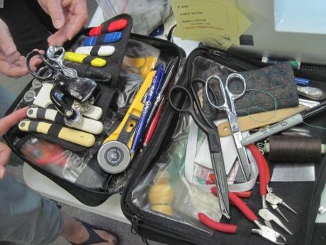 Kenneth King's tool bag.
