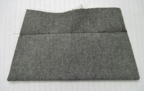 This is the front of the flap. The edges are free of bulk.