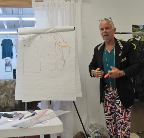 Drafting a notched-collar jacket from a shawl collar pattern. Kenneth makes it look easy.