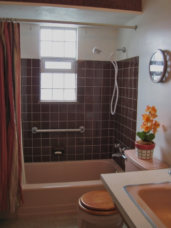 Downstairs bathroom, staged for sale.