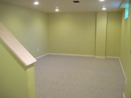 Basement: Clean and bright.